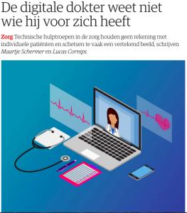 NRC artikel 'De digitale dokter weet niet wie hij voor zich heeft'